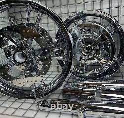 Harley Enforcer Wheels Chrome 2014-19 Road King Street Glide Touring (échange)