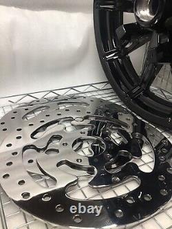 Harley Impeller Roue Avant Gloss Black 2014 Road King Street Glide (échangeur)