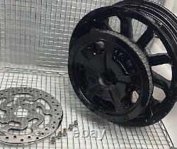 Harley Impeller Wheels Gloss Black 2014 -19 Road King Street Glide (échange)