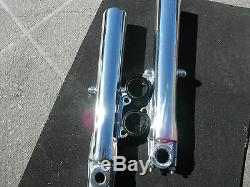 Harley Poli Jambes Fourche Avant Inférieurs Street Glide Road King 2000-2013 Vente
