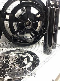 Harley Wheels Exécuteur En Verre Noir 2014 -19 Road King Street Glide (échange)