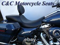 Harley-davidson Avec Backrest, Road King, Ultra, Street Glide, Flhx, Sièges C&c