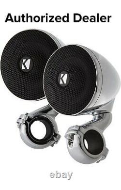 Kicker Motorcycle/atv 3 Mini Handlebar Speakers Harley Street Road King / Glide