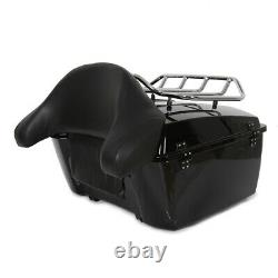 King Tour Pack Trunk Avec Rack Pour Harley Road Glide Street Electra Glide 97-08
