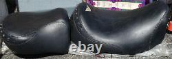 Mustang Touring Seat 1997-07 Modèles Harley Street Glide/road King-noir/studded