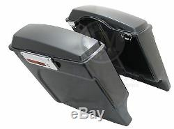 Mutazu 4 Sacs Durs Extended Black Pearl Pour Harley Road King Street Glide Flht