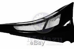 Mutazu Personnalisé VIVID Black Chin Spoiler Scoop Pour Harley Road King Street Glide