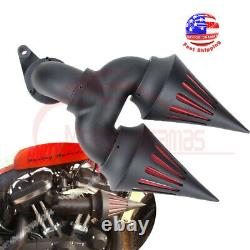 Nettoyeur D'air Black Double Spike Pour Harley Touring Electra Street Glide Road King