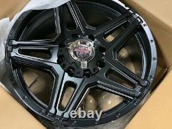 Off Road Black Wheels Rims Pneus 265 70 17 265/70/17 Au Paquet F-250 F-350