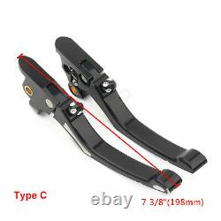 Paire Bord Coupe Frein Embrayage Levier Pour Harley Road King Street Glide Flhtk 96-16