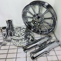 Roulette Harley Roulette Roulettes Chrome 2009 -19 Road King Street Glide Touring (échange)
