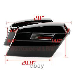 Sacoches Noires Pour Harley Touring Electra Street Glide Road King 94-13 Us