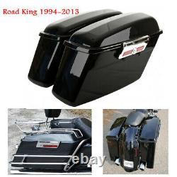 Sacs De Selle Abs Hard Saddlebags Pour Harley Road King Street Electra Glide 94-13