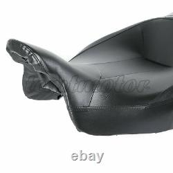 Siège En Cuir Passager Rider Pour Harley Touring Street Glide Road King 2009-2020