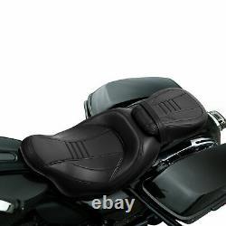 Siège Passager Du Conducteur Noir Adapté À Harley Cvo Street Road King Glide 2009-2021