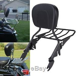 Sissy Bar Porte-bagages Avec Dossier Pad Pour Harley Street Glide Road King 2009-20