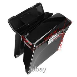 Stretched Extended Hard Saddle Bags Fits 1993-13 Harley Street Glide Road King