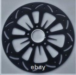 Twisted Venom Black Brake Disc Rotor Front Harley Electra Glide Road King Street