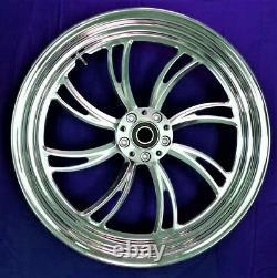 Twisted Vortex Arrière Billet Wheel 16 Harley Electra Glide Road King Street 00-07