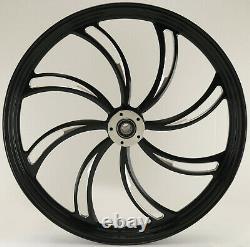 Twisted Vortex Black 26 Big Wheel Harley Electra Glide Road King Street 00-07
