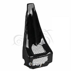 Us Stock VIVID Black Chin Spoiler Fit Pour Harley Touring Road King Street Glide