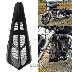 VIVID Black Chin Spoiler Scoop Pour Harley Touring Road Glide Street King 14-19